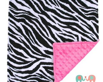 Zebra Minky Baby Blanket, Minky Blanket, Zebra Blanket, Toddler Bedding, Baby Gift, Throw Blanket, Custom Blanket, Animal Print