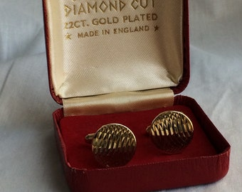 Boxed Vintage Gold Plated Cufflinks