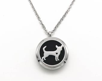 Puppy Dog Lover Essential Oil Aromatherapy Necklace