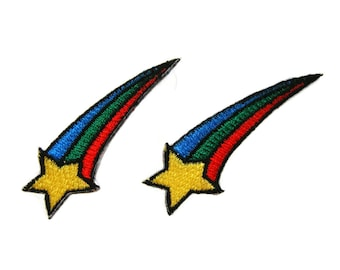 Star Patches Rainbow Patch Applique Embroidered Iron on Patch