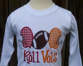 Personalized Football Helmets House Divided Applique Shirt or Onesie