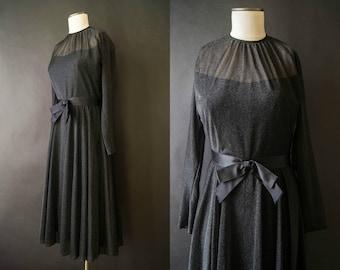 vintage 1960s dress / 60s Adele Simpson sparkle dress / small-medium / Galaxy Dress
