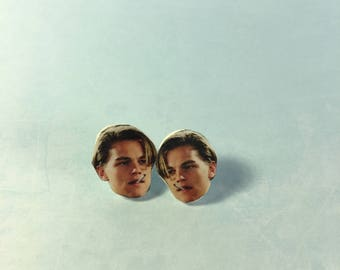 Young Leonardo Dicaprio Stud Earrings