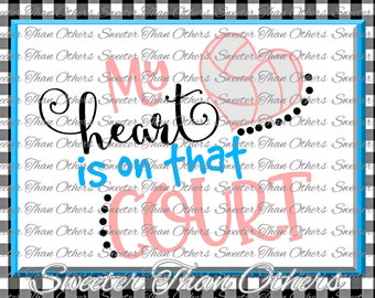 Volleyball svg  Water Polo HTV shirt Design Vinyl SVG and DXF Files My Heart is on that Court, Silhouette, Cameo, Cricut, Instant Download