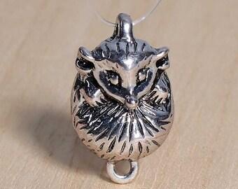 antique silver 3D Hedgehog 4 connectors