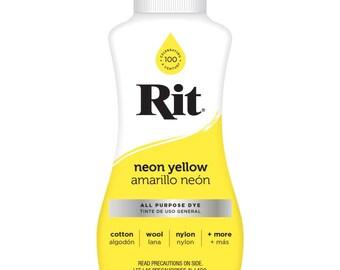 Liquid Rit Dye 8oz - Neon Yellow All Purpose