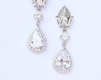 Modern Cubic Zirconia Pineapple Cocktail Earrings Best Gifts For Her