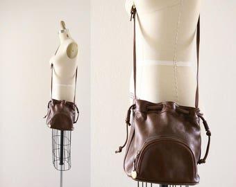 crossbody bucket handbag