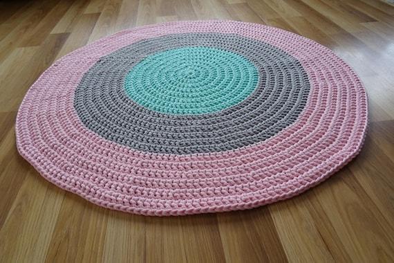 Runder teppich häkeln sie teppich kinderzimmer teppich rund