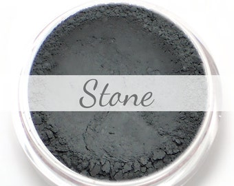 "Eyeshadow Sample - ""Stone"" - matte dark/deep gray grey (Vegan) Mineral Makeup Eyeliner"