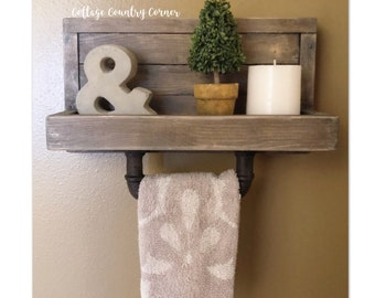 Towel Rack   Hand Towel Rack   Towel Holder   Rustic Towel Rack   Bath Towel