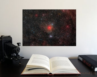 """The Largest Yellow Hypergiant Star 19"""" x 13"""" Poster - Science Astronomy Wall Art - Window on the Universe series"""