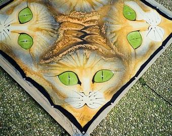 Cats unique silk shawl