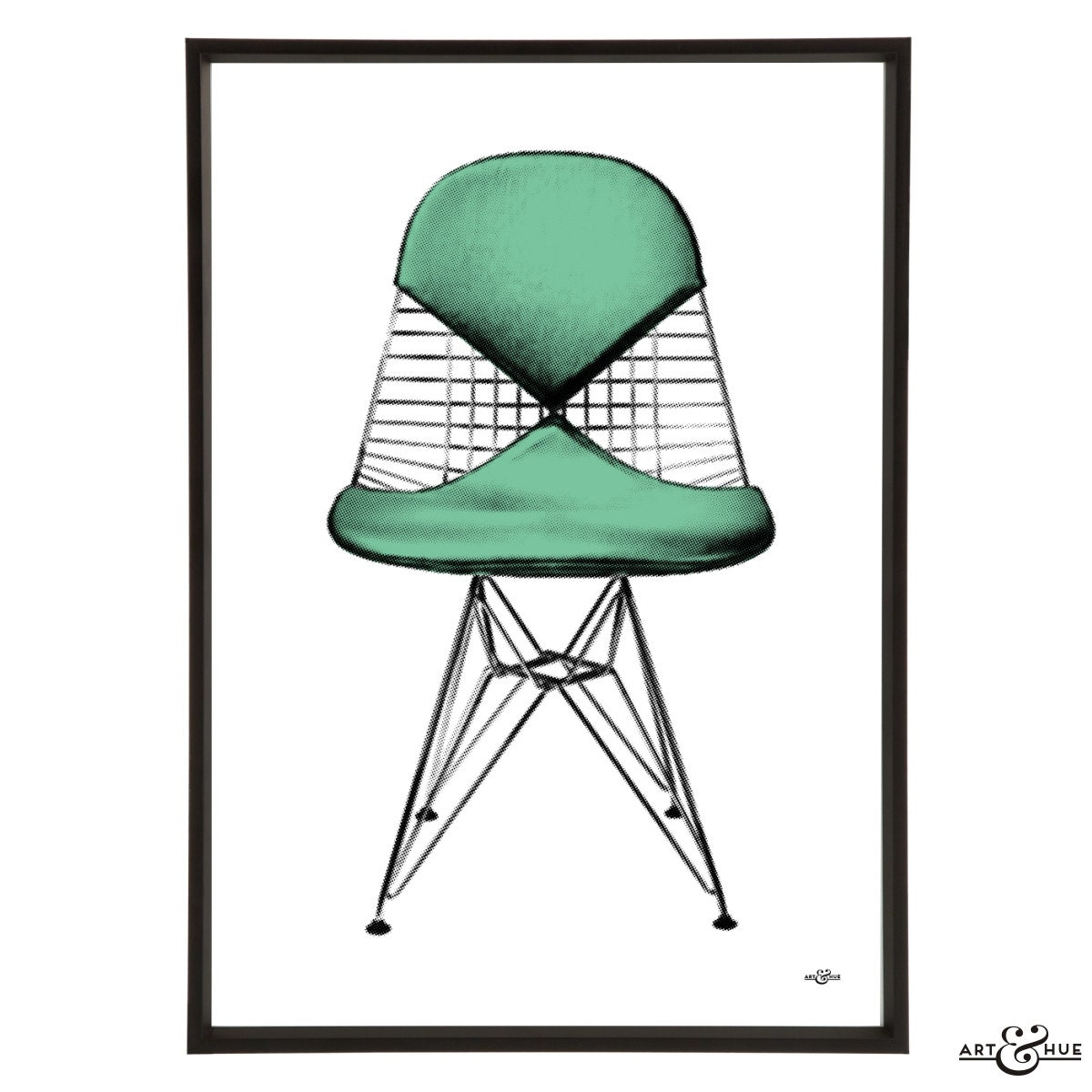 mid century eames wire chair pop art print modernist modernist. Black Bedroom Furniture Sets. Home Design Ideas