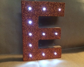 Lighted Glitter Letter Decoration - Close out sale, Limited quantities available!