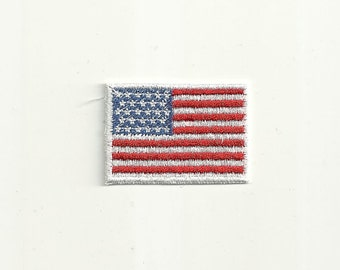 Tiny American Flag Patch Custom Made colors