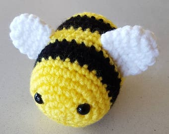 Crocheted Bee Amigurumi