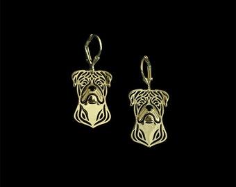 American Bulldog earrings - Gold