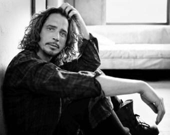Chris Cornell portrait, Soundgarden, Audioslave, Temple of the Dog, Color OR black & white photo, photograph fine art print