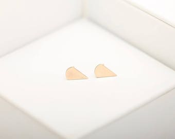Triangle Stud Earring • Gold Triangle Studs • Triangle Studs • Gold Filled Triangle Studs • Rose Gold Triangle Studs • Geometric Studs •