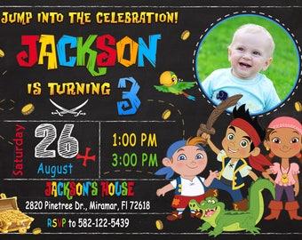 Jake and the Neverland Pirates Invitation, Jake and the Neverland Pirates Birthday Party