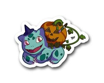 Pumpkin Bulbasaur Sticker
