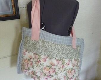Patchwork Tote Bag, Vintage Fabrics, Recycled Fabrics, Large Tote Bag, Unique Tote Bag, Accessories, Hippie Boho, Shoulder Bag, Quilted Bag