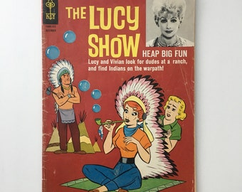 Vintage The Lucy Show comic book, Heap Big Fun comic, The Lucy Show comic 3, The Lucy Show 1964, Lucille Ball, Lucy comic book, I love Lucy