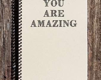 You Are Amazing Journal  - You Are Amazing Notebook