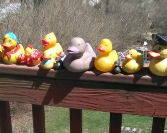 Lot of 41 Vintage Rubber Ducks All Kinds Steampunk Upcycle Festivals Music Concerts Max Creek