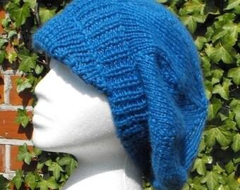 HALF PRICE SALE Digital pdf file download - Peak Slouchy Tam Cap Hat pdf download knitting pattern
