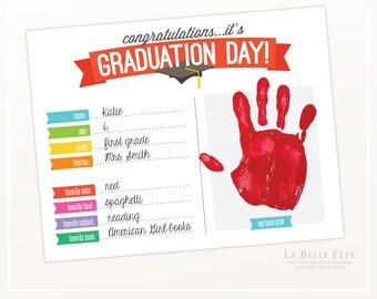 GRADUATION DAY Handprint Art / classroom activity / DIY printable