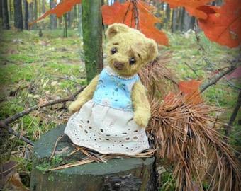 Big Sale! OOAK teddy bear Mirabel Vintage teddy bear Artist teddy bear Gift for her Stuffed bear 4,7 inches old bear Valentine's Day gift