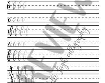 Practice Lettering Sheet, Calligraphy Practice Sheet, Learning to Letter, How to Letter, Modern Calligraphy Practice Sheet, Cursive Practice