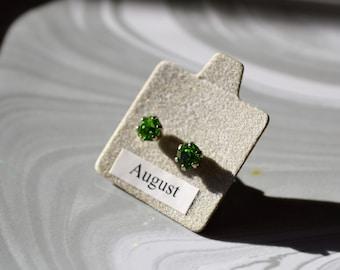 August Peridot Birthstone Earrings