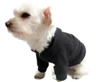 Black Dog Hoodie-Dog Clothes-Dog Hoodies-Dog Clothes-Dog Sweater-Dog Shirt-Dog Shirts-Shirts for Dogs-Dog Sweatshirts-Hooded Dog Sweatshirts