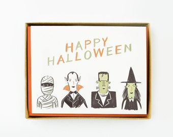Halloween Creatures Card 8pcs