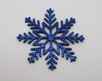 Glitter snowflakes die cut , foam die cut snowflake, winter decoration Christmas ornament, winter decoration, with or without thread to hand