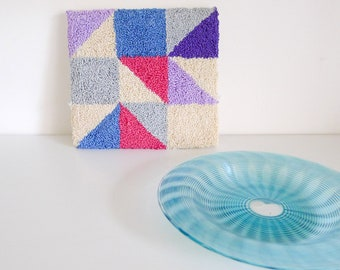 Geometric Embroidered Fibre Art