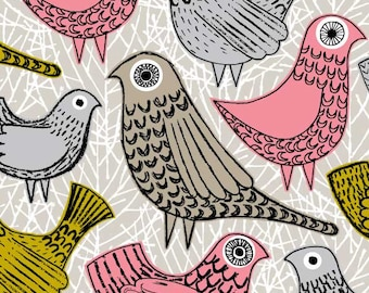 Pink Birds, limited edition giclee print