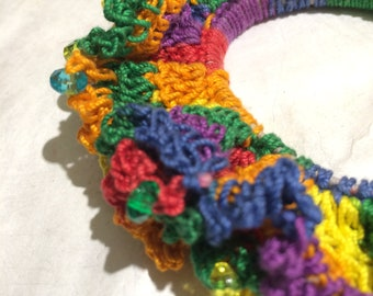 Beaded Crochet Hair Tie