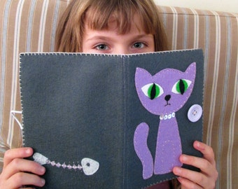 Purple Cat Kindle cover | Kindle paperwhite case | Kobo Touch case | Free UK Shipping