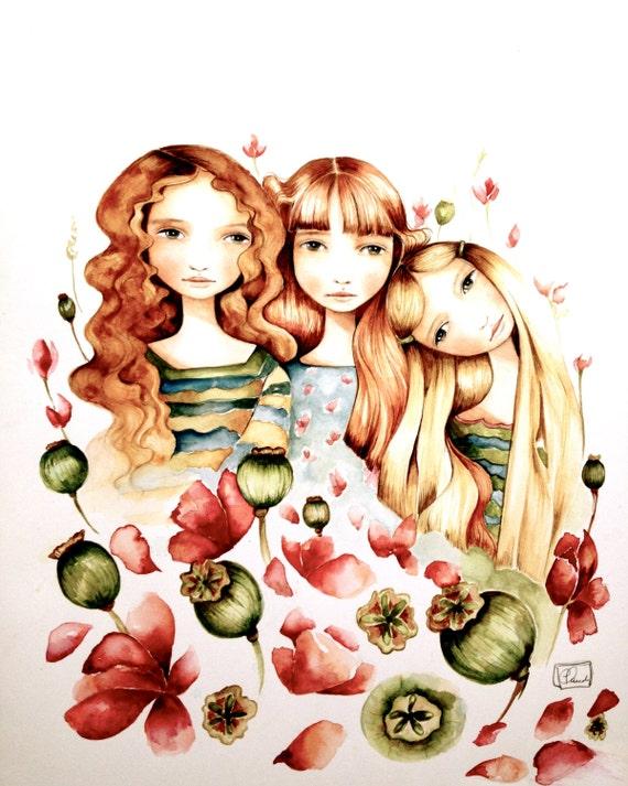 The 3 sisters art print
