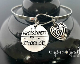 High School Graduation Gift for Her, College Graduation Gift, Class of 2018 Bracelet, Graduation Gift Personalized, Graduation Jewelry