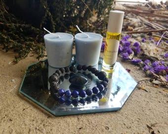Blue Lapis Lava Rock Aromatherapy set