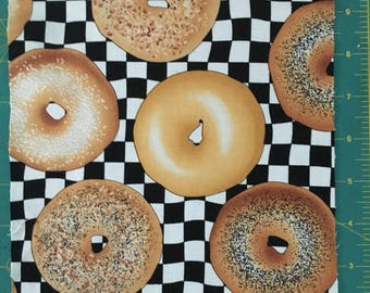 "Bagels Novelty Fabric 9"" X 36"" Timeless Treasures"