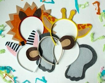 Jungle Safari Zoo Assorted Animal Headbands