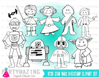 Star Wars Clipart Set, Clip Art Graphic, Instant Download -D726
