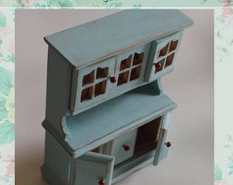 Miniature farmhouse kitchen Cabinet. scale 1/ 12