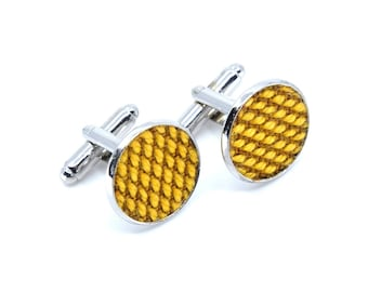 Yumi collection - cufflinks silver/gold - yellow